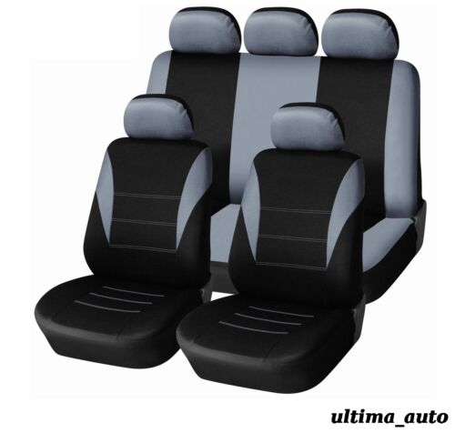 9 pcs Full Grey Fabric Seat Covers Set FORD FIESTA FOCUS MONDEO CONNECT B-MAX