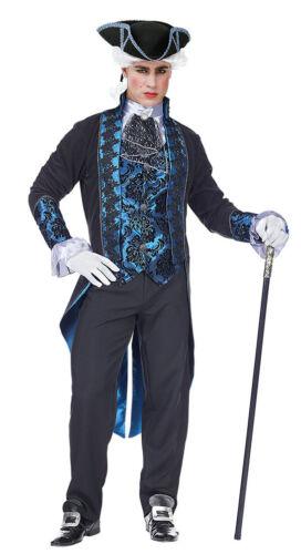 Barocco Rokoko Costume Uomo Blu Nero incl CILINDRO carnevale carnevalesco KK