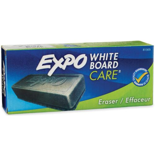 """EXPO Dry Erase Soft Pile Board Eraser 5 1//8/""""w x 1 1//4/""""h White Boards 2 Pack"""