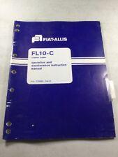 Fiat Allis Fl10 C Crawler Loader Operation Amp Maintenance Manual