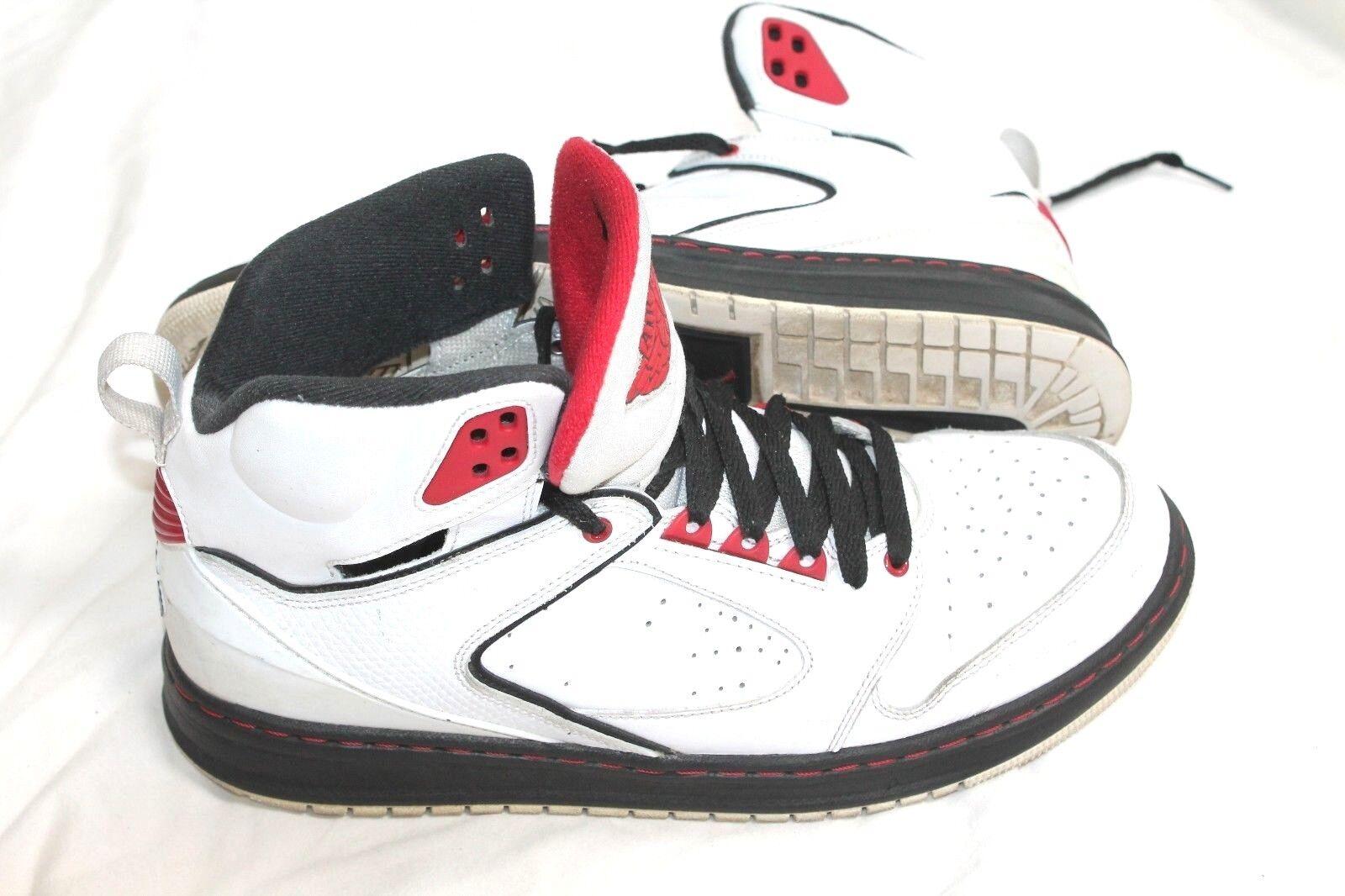 Nike Air Jordan Sixty Club Wit Blk Gym Rd Size 10.5 535790-101 Retro J's Sneaker