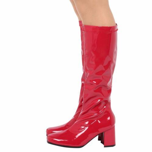 New LADIES WOMENS FANCY PARTY GO GO BOOTS 60s 70s RETRO Size UK 3-12