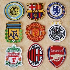 Patch-Toppa-Brand-Logo-Squadre-di-Calcio-Football-Team-Ricamata-Termoadesiva