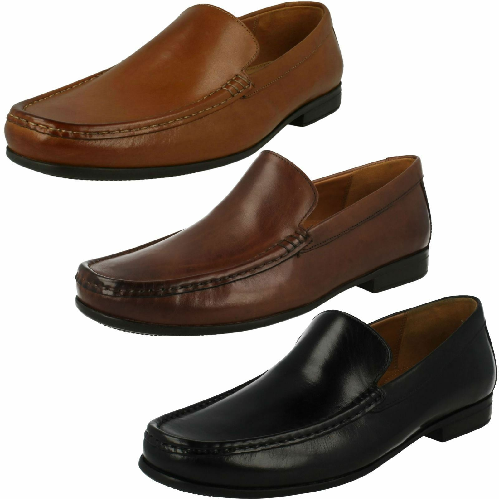 Mens Claude Plain Clarks Smart Slip On
