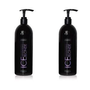 2x1 L säurehaltige Silber Shampoo Anti Gelbstich blonde graue weiße Haare Silver