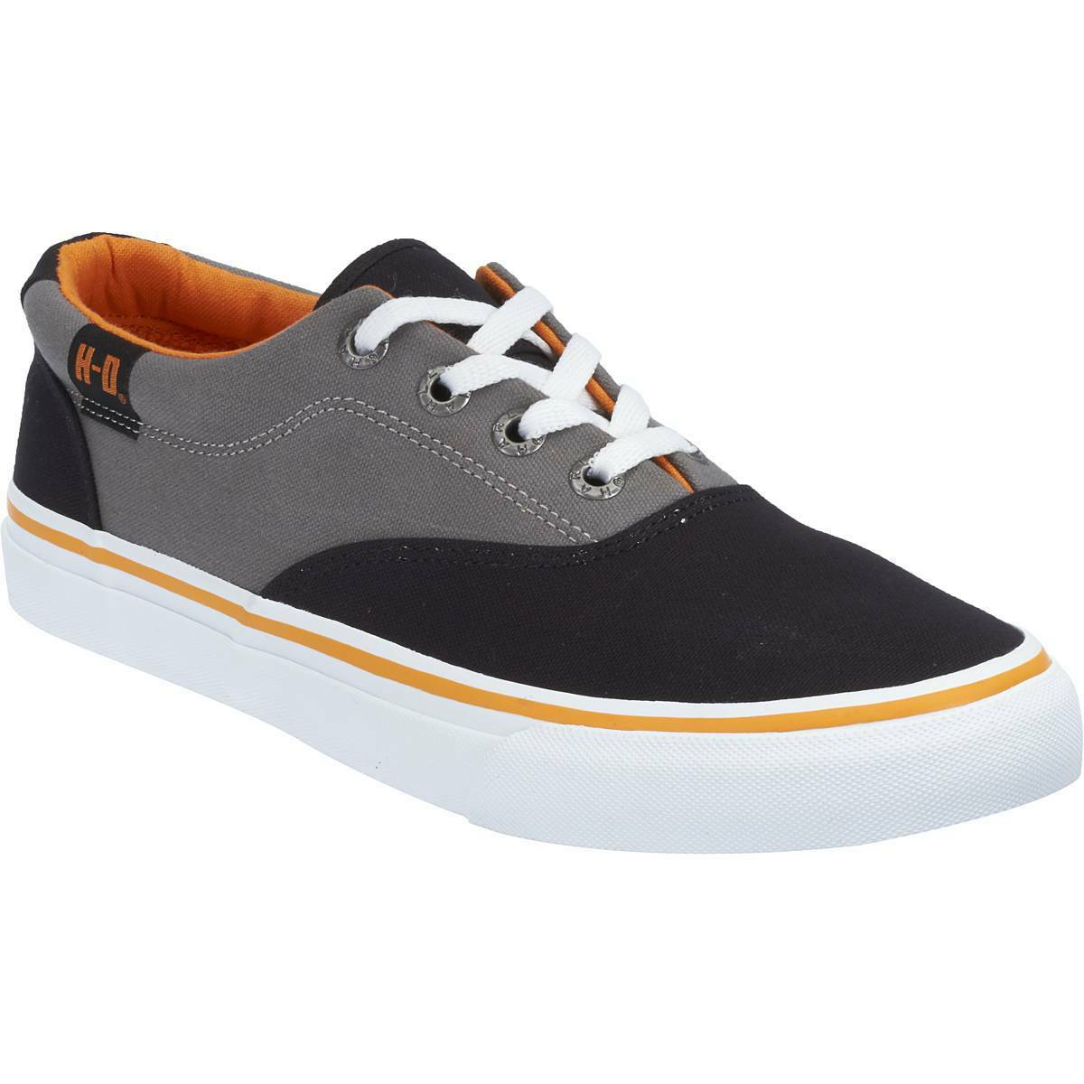 Harley Davidson Genuine Lawthorn Black Grey Mens Biker Trainers Relax Lace Shoes