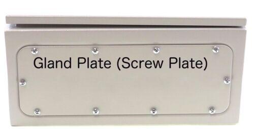 """Screw Plate 20/"""" 12/"""" 6/"""" Yuco YC-20X12X6-UL IP66 Nema Type 4 Enclosure w// Gland"""