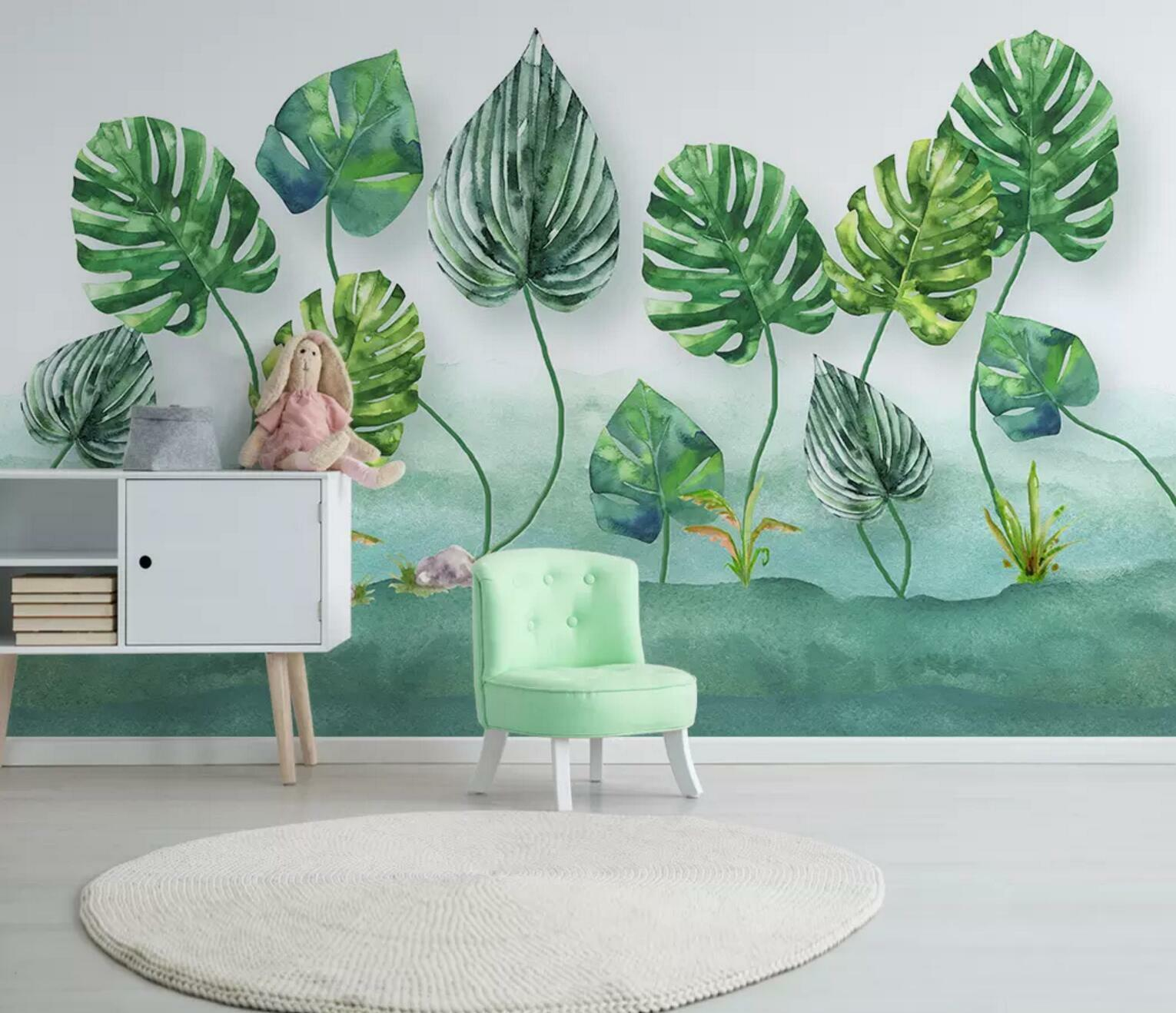 3D Grün Leaf Lawn 56 Wall Paper Exclusive MXY Wallpaper Mural Decal Indoor wall