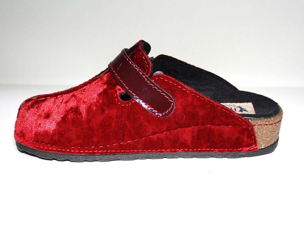 Hergos Hergos Hergos Damenschuhe H317 Pantofola Ciabatta Rubino Plantare Estraibile 9fcf61