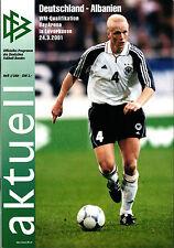 WM-Qualifikation Deutschland - Albanien, 24.03.2001 in Leverkusen