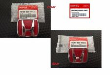 Honda S2000 FRONT AND REAR EMBLEM JDM  H Red Genuine OEM  Badge S2K AP1 AP2