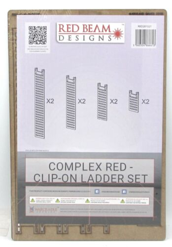 Terrain Accessories Red Beam Designs RBD281021 Clip-On Ladder Set Complex Red