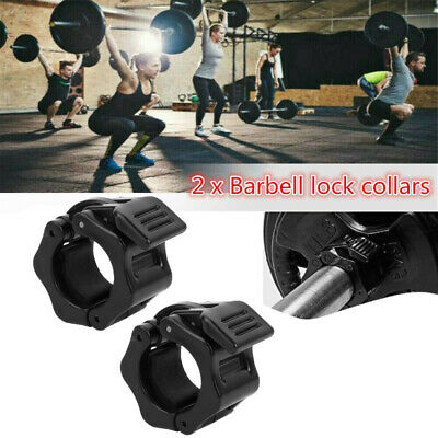1//2pcs 28mm Barbell Gym Weight Bar Dumbbell Lock Clamp Spring Collar Clips @shao