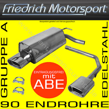 FRIEDRICH MOTORSPORT DUPLEX EDELSTAHL AUSPUFF AUDI A4 B6 LIMO+CABRIO+AVANT