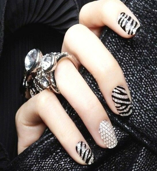 FD484 New Fashion 3D Nail Art Crystal DIY Sticker Tips Decal Decoration/
