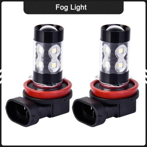 2Pcs H8//H9//H11 50W 6000K Super White Fog Light LED Driving Lights Bulbs DRL