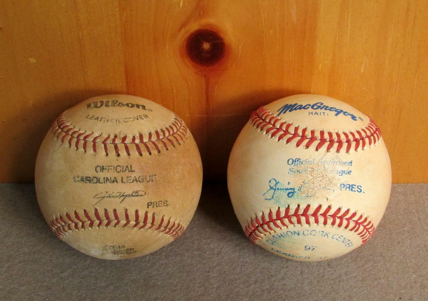 Vintage Wilson & Macgregor Baseballs Offizielles Offizielles Offizielles Carolina & Southern League 4499ef