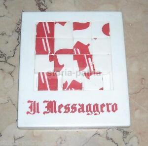 Journalisme_le journal Il Messaggero_grazioso Gioco d'epoca_pubblicitario_inusuale
