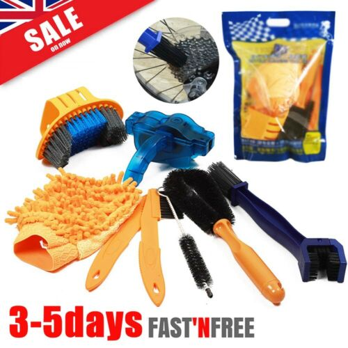 Bicycle Chain Cleaner Cycling Cleaning Brushes Wash Tool Kit UK