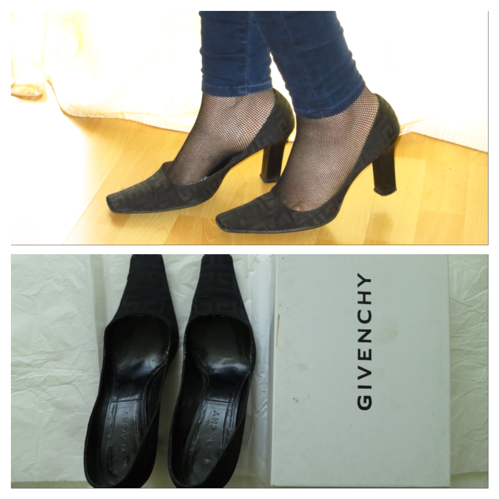 Selten  Givenchy Pumps Schuhe Schuhes Stoff Logo Gr. 41 sehr bequem OVP NP