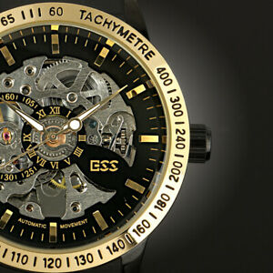 Mens-Skeleton-Watch-Automatic-Stainless-Steel-Band-Luxury-Steampunk-Gloss-Analog