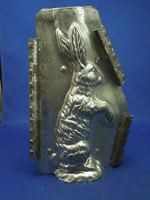 Vintage Standing Rabbit Easter Bunny Metal Tin Chocolate Candy Mold