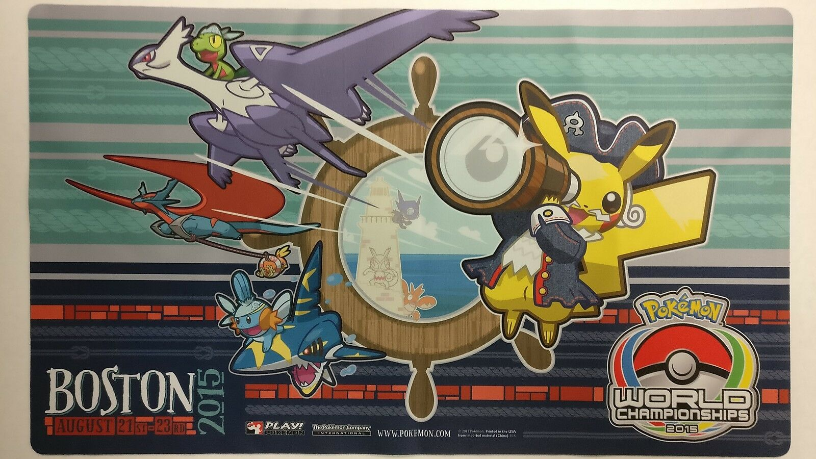 Play  Pokemon World Championship 2015 Boston Playmat Fast Shipping