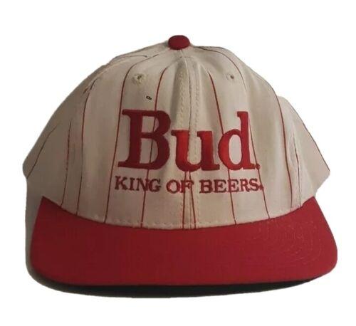 Vintage Bud King of Beers Snapback Hat Adjustable 90s Budweiser Anheuser-Busch