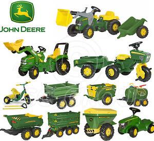 259c2b9472dfcf Rolly Toys - John Deere Pedal Tractors Trailers Loader Tanker Trike ...