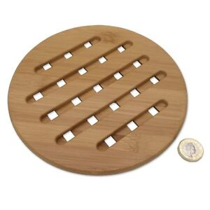 NATURAL-BAMBOO-Heat-Mat-Pad-Trivet-Hot-Pans-Plates-Fragrant-Chic-Asian-Coaster