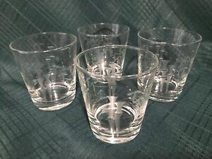 Set-of-4-Noritake-Sasaki-Bamboo-Crystal-Etched-Bamboo-Rocks-Glass
