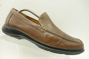 Cole-Haan-Brown-Leather-Casual-Slip-On-Moc-Toe-Driving-Loafer-Shoe-Mens-10-M