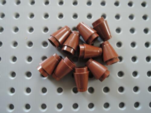 Lego 10 x Cone Kegel 4589b 1x1 rund  rotbraun