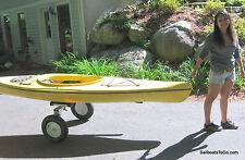 Fat-tire folding cart for canoe, kayak, boat.  Strong. ( Dolly, trolley, kart )