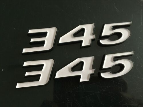 345 EMBLEMS DECALS FOR DODGE CHALLENGER 300C RAM SRT 6.4L Matte Black//w 1 PAIR