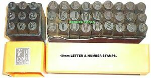 LETTERS-amp-NUMBERS-METAL-PUNCH-STAMPS-10mm-SIZE-BRAND-NEW