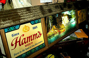 scarce-Hamms-beer-sign-clock-camping-lights-62-034-50-working-running-St-Paul