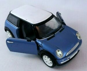 Diecast-Mini-Cooper-Blue-SS-6711-2001-1-24-Scale-Collectors-Toy-Car