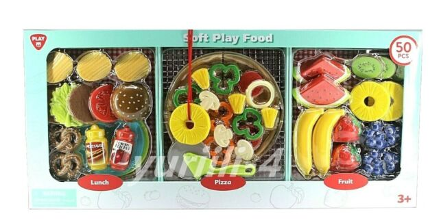 Playgo Toys Gourmet Soft Play Food Lunch Pizza Fruit Includes 50 Piece For Sale Online Ebay