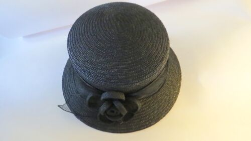 Betmar  NEW YORK  BLACK   STRAW   HAT