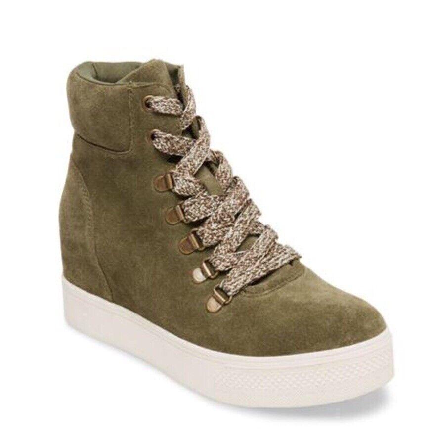 Steve Madden Womens Wedgie Catch Olive Fashion Sneaker Sneaker Sneaker Size 7 High Tops NIB 07853e