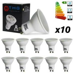 10x-GU10-4W-SMD-LED-Bulbs-Lamp-Day-White-Reflector-Light-Wide-Beam-35-50watt-A