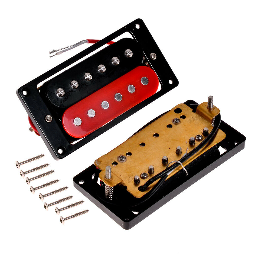 electric 6 string guitar double coil humbucker pickup neck bridge pickups set 634458297424 ebay. Black Bedroom Furniture Sets. Home Design Ideas
