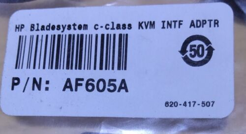 New HP AF605A Interface Adapter Cable KVM Bladesystem C-class 439874-001