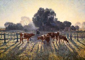 Elioth-Gruner-Spring-Frost-1919-Art-Poster-Museum-Grade-Canvas-Print