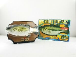 Vintage-Big-Mouth-Billy-Bass-1999-Gemmy-The-Singing-Sensation-Fish-New-in-Box
