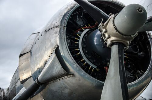 DC-3 ENGINE CLOSE UP AIRCRAFT AIRPLANE POSTER PRINT 24x36 HI RES 9 MIL PAPER