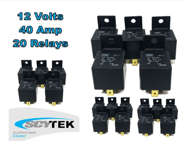 4 PACK 30//40 AMP INDUSTRIAL 12V BOSCH STYLE SPDT RELAY FREE SAME DAY SHIPPING!