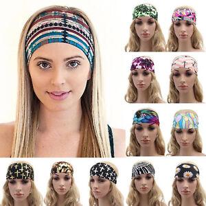 9.5CM Wide Women Girl Yoga Sport Headband Stretch Hairband Elastic ... 5ac332b399f