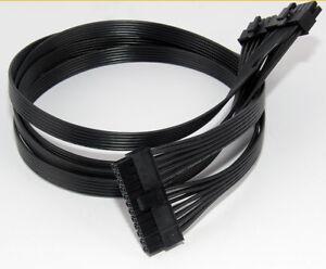 10 Pin+14Pin to 24Pin Modular Power Supply Cable for Corsair AX1200 AX1200I RM